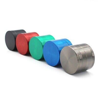 4-Layer Metal Zinc Alloy Tobacco Grinder Hand Muller Smoke Crusher Spice - Green