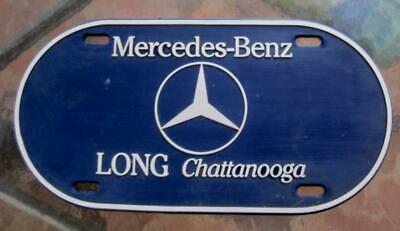 """Mercedes Benz Long Chattanooga Sign Navy silver  Oval Plastic 12"""""""
