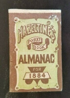 1884 Pocket Almanac Hazeltine's PISO'S Cure Warren PA Wait Drug Traverse City MI