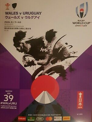 Wales v Uruguay Rugby World Cup Programme