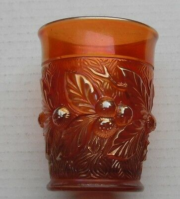 Accorn Burrs Tumbler..Marigold--very pretty-bc..vintage Northwood carnival glass
