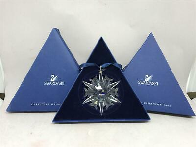 Gorgeous Annual SWAROVSKI Crystal Star Snowflake Ornament 2002, Box