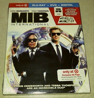 New Men in Black International Blu-ray/DVD/DC + 48 Page Mini Book Target USA