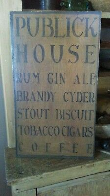 Primitive Wooden Sign ~ Publick House Tavern Sign ~ Awesome