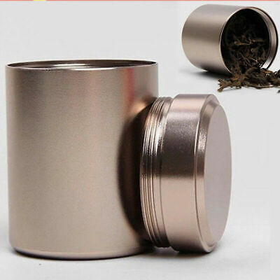 Aluminum Waterproof/Smell Proof Airtight Container Herb Storage Stash Jar New
