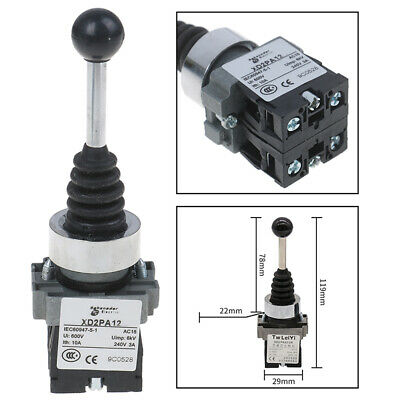 1Pc 2NO 2 Position rocker switch XD2-PA12 XD2-PA22 joystick controllers switch`