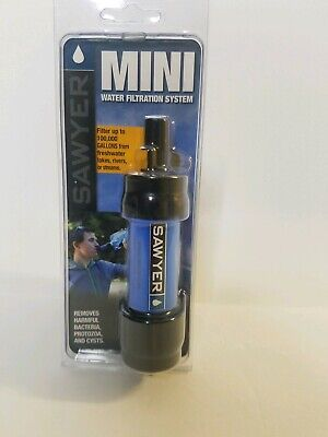 Sawyer Products Mini Water Filtration System Removes bacteria New