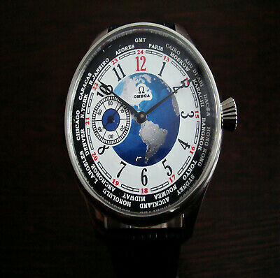 Omega World Time dial marriage luxury watch Swiss Vintage movement 1925