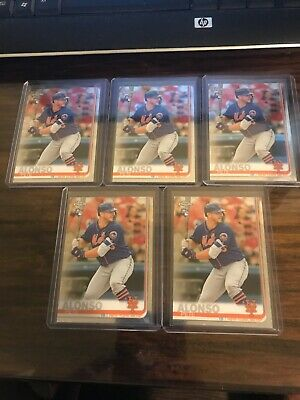 2019 Topps Chrome PETER PETE ALONSO Base Rookie Card RC #204 Mets Lot of 5