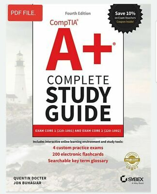 Comptia A+ Complete Study Guide Exams 220-1001 and 220-1002 (Read Description P-