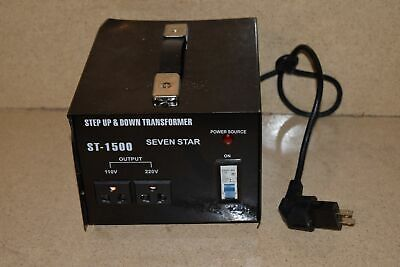 Seven Star St-1500 Step Up & Down Transformer