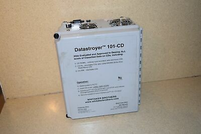 Whitaker Brothers Datastroyer 101-CD Haute Sécurité CD Destroyer (DD )
