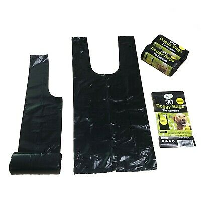 900 x Degradable Tidyz Dog Poo Bags Tie Handles Thick Strong Handy Refill Rolls