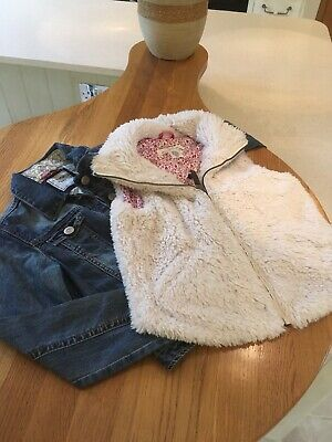 Girls Next Denim Jacket 11 - 12 Yrs H & M Sleeveless 13 - 14 Yrs