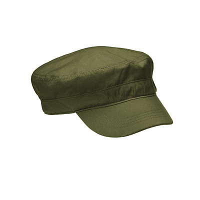 2PCS Unisex Mens Womens Cotton Military Hats Adjustable Flat Cadet Patrol Caps
