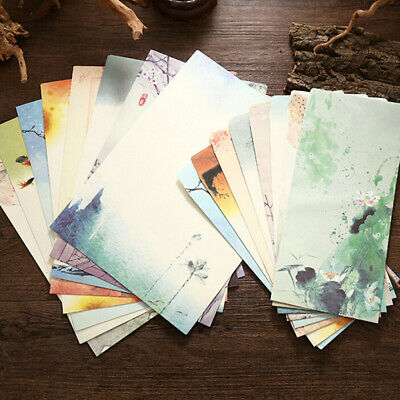 4pcs Retro Writing Paper Chinese Style Vintage Letter Paper Stationery Set LA