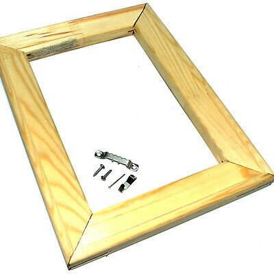 CANVAS STRETCHER BARS WOODEN FRAMES 19mm + WEDGES + HANGING KIT CANVASES PINE