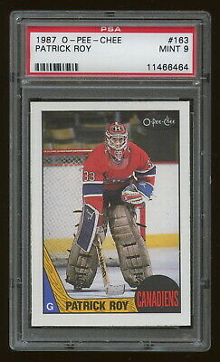 1987 O-Pee-Chee OPC #163 Patrick Roy 2nd year Montreal Canadiens PSA 9