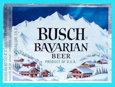 St. Louis, MO - Busch Bavarian Beer 32oz label #4 - NOS (New Old Stock)
