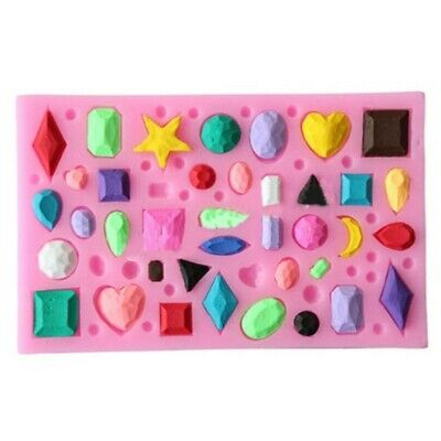 JEWELS MINI Silicone Mould Mold: Soap Candle Resin Fondant Cakes Gemstones Gems