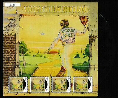 Gb 2019 Elton John Goodbye Yellow Brick Road Fan Sheet Mnh