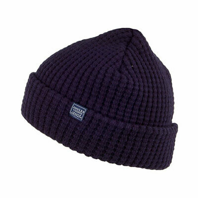 Joules Hats Bamburgh Waffle Knit Beanie Hat - Navy Blue