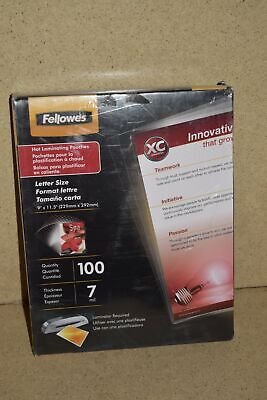 "^^ Fellowes 100 9"" X 11.5"" Laminating Pouches Crc52041 - New Box"