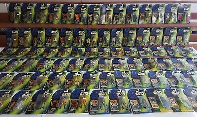 Star Wars POWER OF THE FORCE POTF (85) Kenner Figures Lot GREEN CARD, ALL MOC
