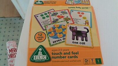 ELC Touch And Feel number cards