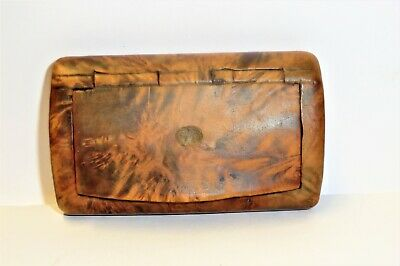 Antique Burr-Walnut Snuff Box Not Sure Of Age