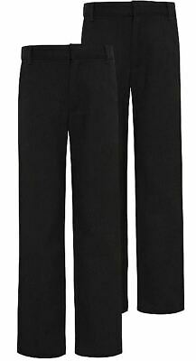 NEW BOYS EX STORE CHARCOAL GREY ELASTICATED WAIST SCHOOL TROUSERS Age 3-16 T36