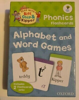 Read With Biff,Chip & Kipper Phonics Flashcards Good Condition School Educationl