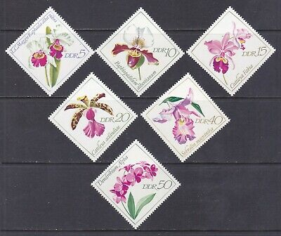 Germany DDR 1057-62 MNH 1968 Various Types of Orchids Full 6 Stamp Set VF