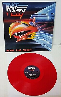 Riot City Burn the Night RED Vinyl LP Record new