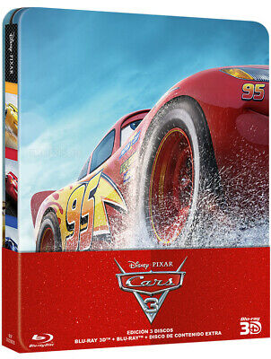 Cars 3 Blu Ray 3D Spanish Edition Steelbook Disney / Pixar Sealed