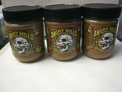 (3) Sinister Labs Angry Mills NonCaffeinated Almond Spread Chocolate Chaos 12 Oz