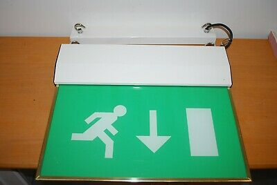 2 x JSB Electrical PLC LED hanging FIre Exit Signs in very good condition
