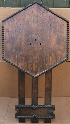 Good Old Large Arts & Crafts Type Wooden Wall Clock Case With Workings In