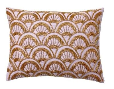 NWT Pottery Barn Teen Anna Sui Lilac Purple Gold Bead Pillow Cover Case 12 x 16