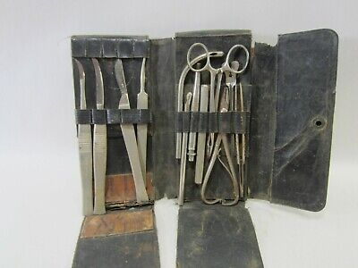 Antique Surgeons Small Surgery Kit in Leather Case  M#423
