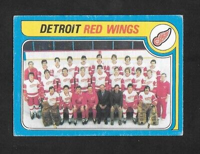 1979-80  Opc Hockey , # 249 , Detroit Red Wings ( Unmarked Checklist )