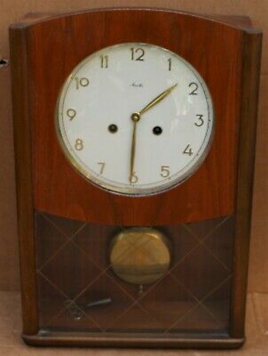 Splendid & Probably Quite Rare Working Retro Mauthe German Wall Clock