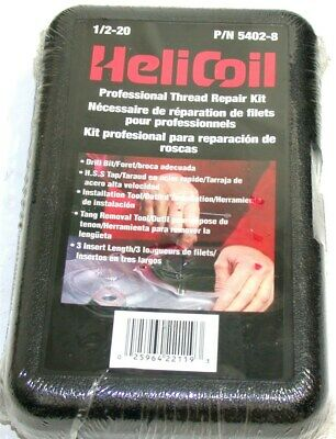 Helicoil Heli-Coil 304 Stainless Steel Thread Repair Kit 1/2-20 18 Pcs 5402-8