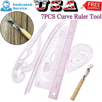 7pcs Sew French Curve Metric Ruler Multifunction Sewing Tailor Dressmaking Tools