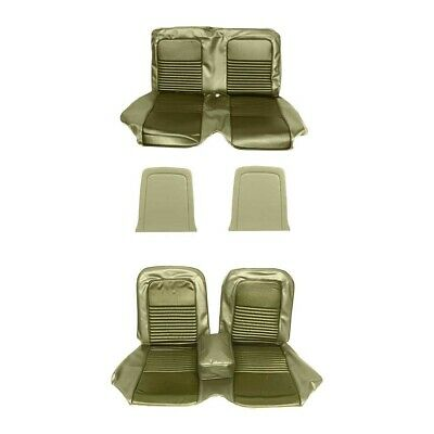 Front & Rear Bench Seat Upholstery Ivy Gold 1967 Mustang Convertible