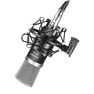 Neewer NW-700 Condenser Microphone with Shock Mount, Power Cable (Black)