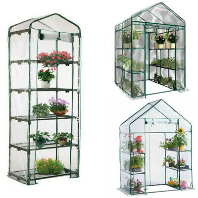 3 4 5 Tier Mini Greenhouse Walk In Grow Bag Replacement PVC Cover Plastic Garden
