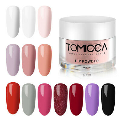TOMICCA Acrylic Nail Dipping Powder Dip System Manicure Pedicure Art 56g 10Color