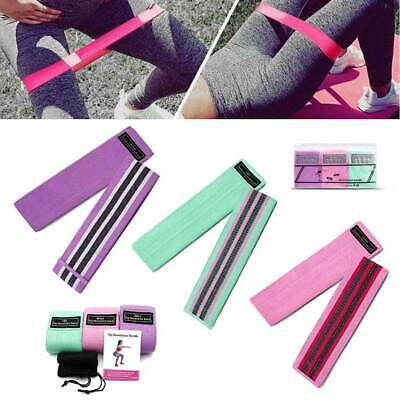 3x Resistance Bands Booty Loop Hip Circle Glute Leg Squat Gym Exercise Fitness