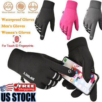 Winter Cycling Ski Outdoor Gloves Touch Screen Waterproof Warm Men Women Gloves